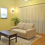 小花刺繍 レース オーダーカーテン 小窓 おしゃれ カーテン 楽々自然住宅