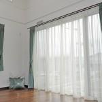 大津市 パナホーム ベルベット 緑 オーダーカーテン