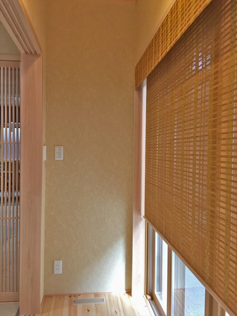 菱和ホーム – 格子戸のある和室 縁側に経木すだれ