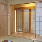 格子戸のある和室 縁側に経木すだれで趣を 菱和ホーム