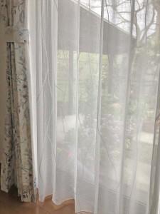 349.スペイン製 オーガニックコットンのカーテン