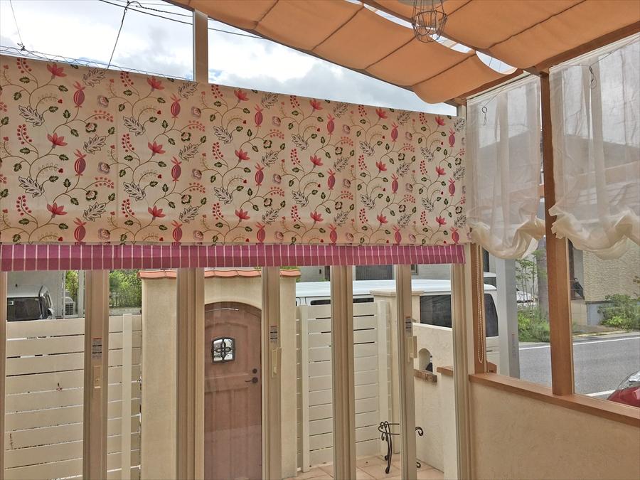 上品で可愛らしい イギリス製 刺しゅうカーテン